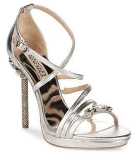 Badgley Mischka Sheri Metallic Crystal Heels