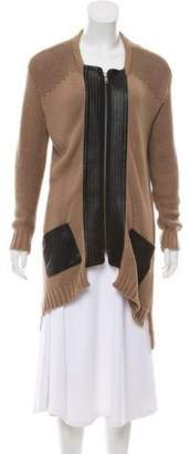 Yigal Azrouel Cut25 by Leather Accented Knit Jacket