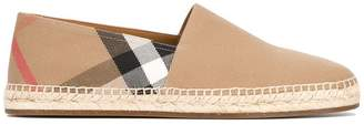 Burberry Canvas Check Espadrilles