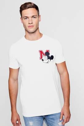 Disney Mickey Emblem Crew Neck T-Shirt