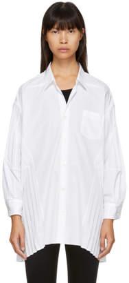 Junya Watanabe White Pleated Panel Shirt