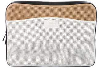 Smythson Perforated Leather Pouch