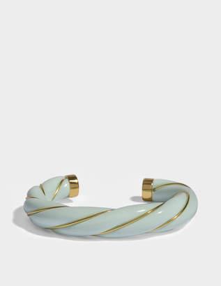 Aurelie Bidermann Diana Twisted Bracelet in Baby Blue 18K Gold-Plated Brass