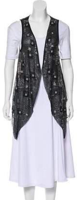 Alice + Olivia Embellished Asymmetrical Vest