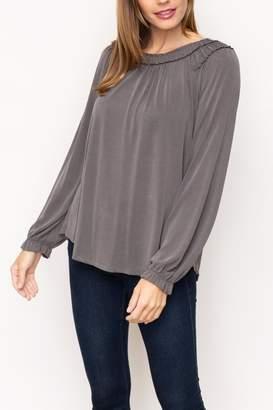Mystree Modal Shirring Top