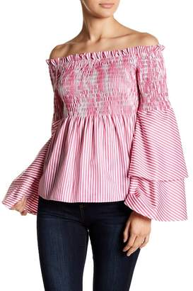 Gracia Off-the-Shoulder Bell Sleeve Blouse