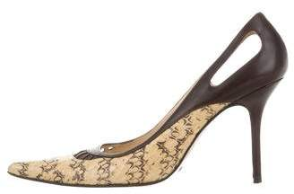 Dolce & Gabbana Snakeskin Cutout Pumps