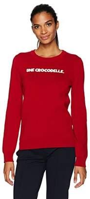 Lacoste Women's Crew Neck Interlock une Crocodelle Sweater