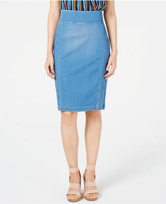 INC International Concepts Inc INCFinity Jean Pencil Skirt