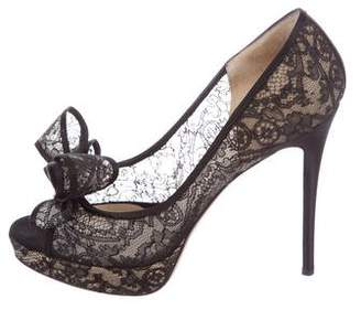Valentino Couture Bow Platform Pumps