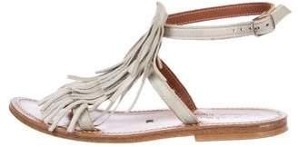 K Jacques St Tropez Ponyhair Fringe Sandals