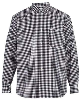 Comme des Garcons Forever Cotton Gingham Shirt - Mens - Black