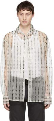 Warren Lotas White Organza Barbed-Wire Shirt