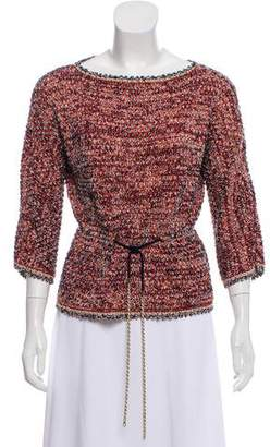 Chanel Chain-Embellished Drawstring Sweater