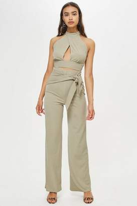 Love **Ribbed Tie Front Trousers