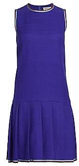 Gucci Women's Sleeveless Tweed Drop Waist Daywear Dress