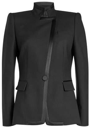 Alexander McQueen Asymmetric Blazer with Wool