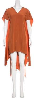 Issa Satin Cape Dress