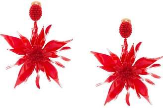 Oscar de la Renta starfish flower clip-on earrings