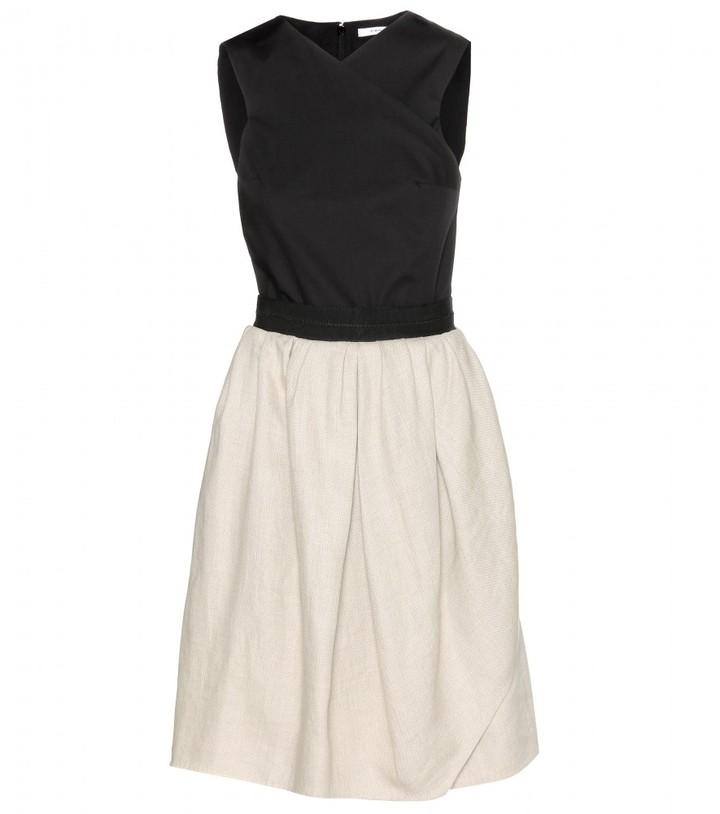 Carven Linen and cotton-blend dress