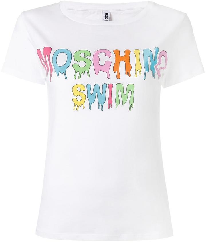 MoschinoMoschino dripping logo T-shirt