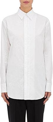 Yohji Yamamoto Women's Doodle-Print Cotton Shirt-WHITE $429 thestylecure.com