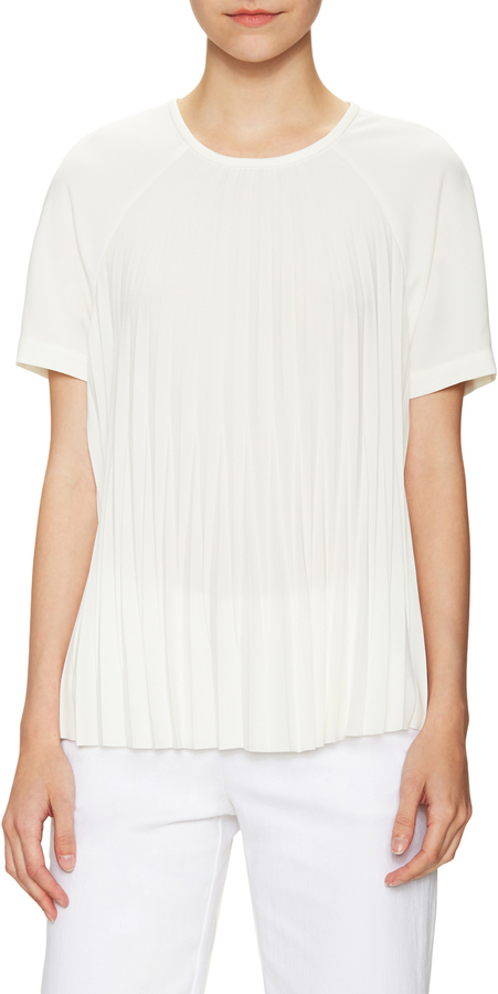 Kate Spade New York Women's Pleated Crepe Blouse