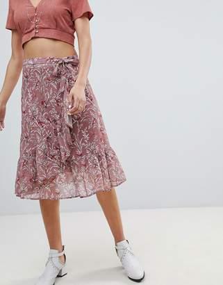 Sofie Schnoor bird print wrap skirt