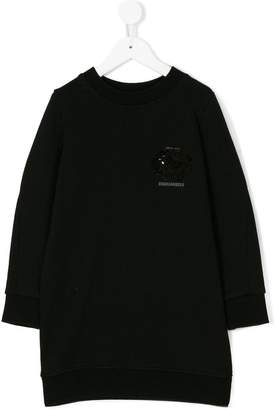DSQUARED2 sequin detail sweatshirt dress