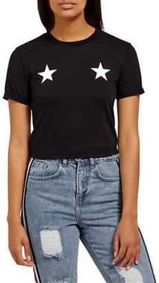 Missguided Star Front Tee