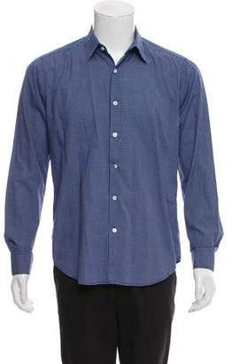 Theory Sylvain Aramon Gingham Button-Up Shirt