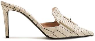 Altuzarra Izy point-toe pinstriped mules