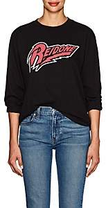 RE/DONE Women's Logo-Graphic Cotton Long-Sleeve T-Shirt - Black