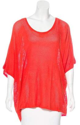 Rag & Bone Open Knit Short Sleeve Tunic