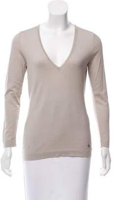 Emilio Pucci Wool & Silk V-Neck Sweater