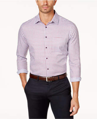 Tasso Elba Men's Long-Sleeve Checked Shirt