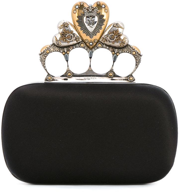 Alexander McQueenAlexander McQueen Heart Knuckle box clutch