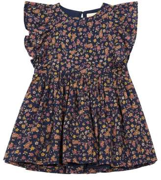 Simple Sale - Maize Floral Ruffled Dress