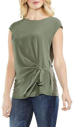 Vince Camuto Mixed Media Tie Tee