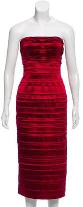 Philosophy di Alberta Ferretti Strapless Midi Dress