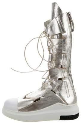 Cinzia Araia Metallic Sneaker Boots w/ Tags