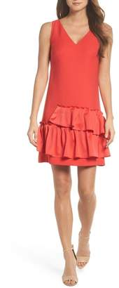 Eliza J Ruffle Hem Sheath Dress