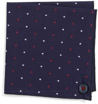 Wilson Armstrong & Navy Lee Cotton Pocket Square