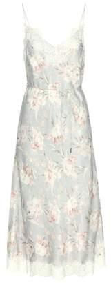 Zimmermann Lace-trimmed crêpe-satin dress