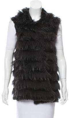 Yves Salomon Knit Fur Vest