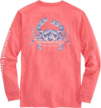 Vineyard Vines Long-Sleeve Camo Crab T-Shirt