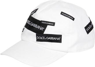 Dolce & Gabbana Logo Tag Cotton Gabardine Baseball Hat