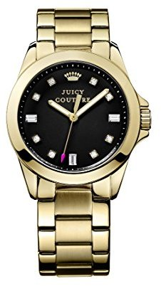 Juicy Couture (ジューシー クチュール) - Juicy Couture Women's Gold Tone Steel Case Quartz Black Dial Watch 1901122