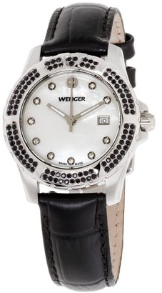 Wenger Sport Elegance Mother of Pearl Dial Leather Strap Ladies Watch 70315