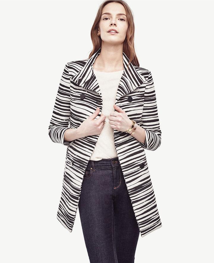 Ann TaylorZebra Jacquard Coat